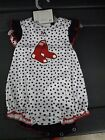 Majestic MLB Infant 2-Piece Boston Red Sox Creeper Set New 3-6 or 6-9 Months