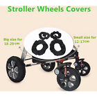 2Pcs Baby Kids Stroller Pram Anti Dirty From Floor Wheel Black Cover AccessoryLA