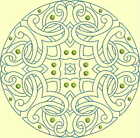 CELTIC QUILT CIRCLE SINGLES -Design 7- from Anemone Machine Embroidery-4 SIZES