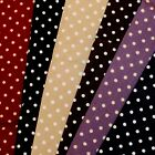 """Fat Quarters - 22"""" X 20""""  ***3mm SPOTS*** Crafts, Bunting & Quilting  £1.00 Each"""