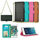 For iPhone 6 6s 7 Plus Luxury Wallet Chain Strap Flip Leather Handbag Case Cover
