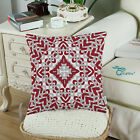 "Square Pillows Throw Cushion Cover Shell Geometric Compass 18""X18"""