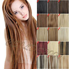 Full Head  One Piece Clip In 100% Remy Human Hair Extensions Hair 100g120g140g