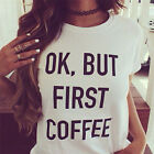 Women Summer Casual T-shirts Cotton Letter Print Tee Tops T Shirt Fashion Blouse