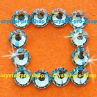 (Any SIZE) Lt Aquamarine Iron On Flatback Hotfix Rhinestones Crystal Shine Nices