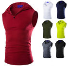 Fashion Men Slim Fit Hooded Hoodie Sweat Sleeveless Coat Tank Vest T-shirt Tops