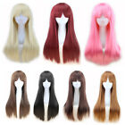 Women's Girl Full Hair Long Straight Hair Synthetic BoBo Wig Cosplay Party Wig