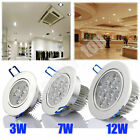 6/12x 3/7/12W Round LED Ceiling Spot Tilt Light Downlights Recessed Spotlights