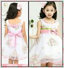 Kids Easter Girl Pinks Communion Christening Girls Dresses SIZE 2-3-4-5-6-7-8-9T