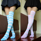 Cute Lolita Over-knee Stripe Cotton Long Thigh High Stocking Socks Cosplay