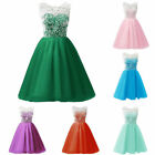 Girls Floral Dress Kids Summer Party Dresses Wedding Lace Dress Age 3-14 Years