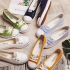 Womens Sweet Flats LoW top Canvas Shoes Ladys Leisure Slip on French Loafers
