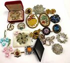 Job Lot Of Vintage Style Brooches And Pins Various Designs  - O04