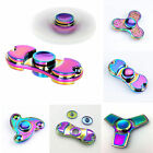 Rainbow Tri-Fidget Hand Finger Spinner ADHD Focus Toy For Kids Adults Autism A+