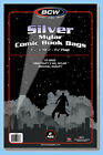BCW: 2-mil Mylar Bags: SILVER COMIC Size: 500ct / CASE-LOT