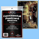 BCW: Polypro Sleeves: LARGE POSTCARD SIZE: 5000ct: 50 Packs (100 each)  CASE-LOT