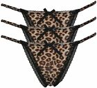 3 Pack of Myla Animal Print Thong with Lace