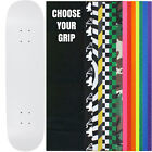 "Skateboard Deck Pro 7-Ply Canadian Maple DIP WHITE With Griptape 7.5"" - 8.5"""