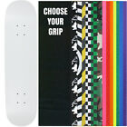 """Skateboard Deck Pro 7-Ply Canadian Maple DIP WHITE With Griptape 7.5"""" - 8.5"""""""