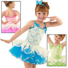 NEW Pink Ivory Lace Dance Baton Skating Ballet Costume Tutu Child Large CL
