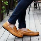 Fashion Men's Driving Casual Boat Shoes Leather Shoes Moccasin Slip On Loafers