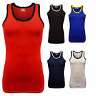 Mens Gym Training Summer Holiday Athletic Cotton Tank Top Sleeveless T-shirt Top