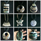 """16"""" unique Jewelry Zealand Abalone Shell Pendant Beads Handmade Necklace Chain"""