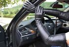 """70cm(27.5"""") super long top sheep leather show opera long leather gloves black"""