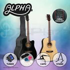 """41"""" Inch Wooden Acoustic Guitar Classical Folk Full Size Dreadnought Bag"""