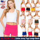 New Women's Active Yoga Pants Cotton Workout Waistband Solid Fold Over Shorts