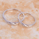 # BUY 1 GET 1 FREE# 925 Sterling Silver Micro pave Cross Couple Band Ring C831