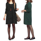 Casual Vintage Winter One piece Tunic Polka Dot Slouch Womens Dress US sz 0-10