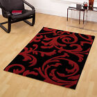 Black Red Small Large Abstract Carved Thick Modern Quality Sale Monte Carlo Rugs