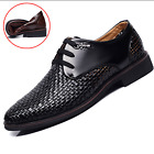 Men Hole Breathable British Style Shoes Formal Dress Business Oxford Hollow Flat