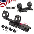 "US Quick Release 1""/30mm Ring Scope Mount&inserts Auto Lock 20mm Rail for Hunt"