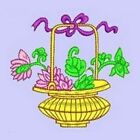 Mimosa & Jade-an Asian 3 single- from Anemone Machine Embroidery-4x4 hoop