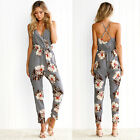 Rompers womens long jumpsuit 2017 NEW floral summer loose backless lady bodysuit