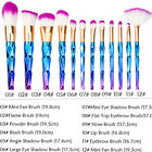 12pcs Unicorn Mermaid Makeup Brushes Foundation Set Cosmetic Blush Face Powder