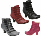 Womens Hush Puppies Tiffin Verona Side Zip Up Ankle Victorian Boots Sizes 3 to 8