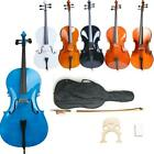 Kyпить 4/4 Size High Quality Professional Basswood Acoustic Cello +Bag+Bow+Rosin+Bridge на еВаy.соm