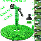 EXPANDABLE GARDEN HOSE FLEXIBLE 25/50/75/100 PIPE EXPANDING WITH SPRAY GUN GREEN