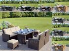 Rattan Weave Outdoor Garden Furniture Conservatory Sofa Chair Dining Table Set