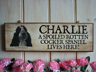 PERSONALISED COCKER SPANIEL SIGN YOUR DOGS NAME YOUR OWN WORDING SIGN YARD SIGN