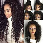8A 1B Unprocessed Brazilian Virgin Human Hair Lace Front Full Lace Wigs Curly D1