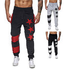 Men's new sports pants Pentagram design high quality casual pants