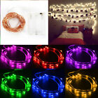 20/30/100 LED String Battery Operated Copper Silver Wire Fairy Lights Xmas Party