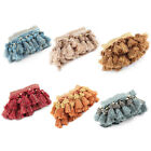 Family Polyester Flower Ball Pendant Curtain Tassel Fringe Trim 3.3 Yards Length
