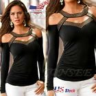 Fashion Womens Summer Long Sleeve Off Shoulder Shirt Casual Blouse Tops T Shirt