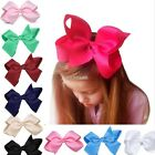 6 INCH BIG BOWS BOUTIQUE HAIR CLIP PIN ALLIGATOR CLIPS GROSGRAIN RIBBON BOW AU