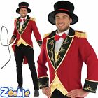Adult Mens Ringmaster Costume Mens Circus Fancy Dress Lion Tamer Outfit